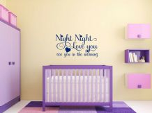 "Wall Quote ""Night Night"" Kids Home Bedroom Wall Art Sticker Quote Vinyl Decal"